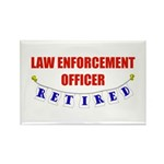 Retired Law Enforcement Officer Rectangle Magnet (