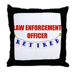 Retired Law Enforcement Officer Throw Pillow