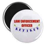 Retired Law Enforcement Officer Magnet