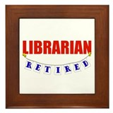 Retired Librarian Framed Tile