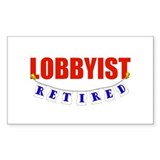 Retired Lobbyist Rectangle Decal