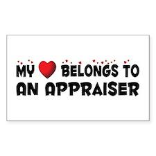 Belongs To An Appraiser Rectangle Decal