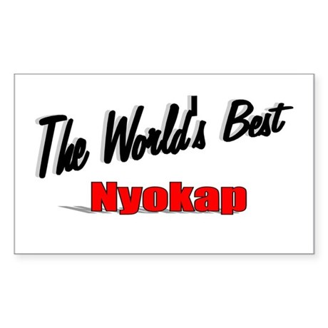 """The World's Best Nyokap"" Rectangle Sticker"