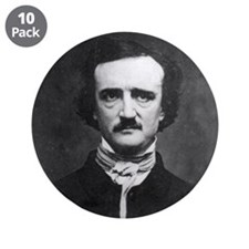 "Edgar Allan Poe 3.5"" Button (10 pack)"