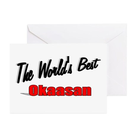 """The World's Best Okaasan"" Greeting Cards (Pk of 2"