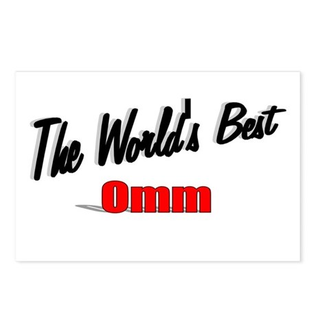 """The World's Best Omm"" Postcards (Package of 8)"