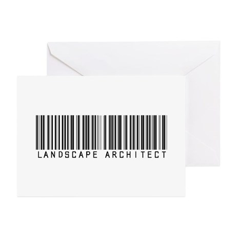 Landscape Architect Barcode Greeting Cards (Pk of