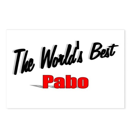 """The World's Best Pabo"" Postcards (Package of 8)"