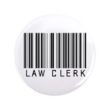 "Law Clerk Barcode 3.5"" Button (100 pack)"