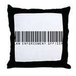 Law Enforcement Ofcr Barcode Throw Pillow