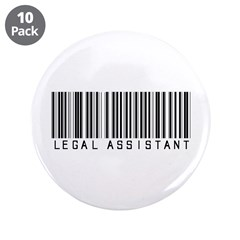 "Legal Assistant Barcode 3.5"" Button (10 pack)"
