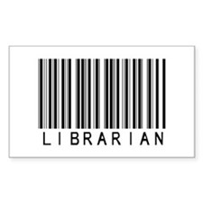 Librarian Barcode Rectangle Bumper Stickers