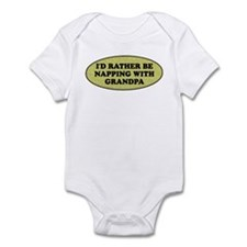 I'd rather be napping with Gr Infant Bodysuit