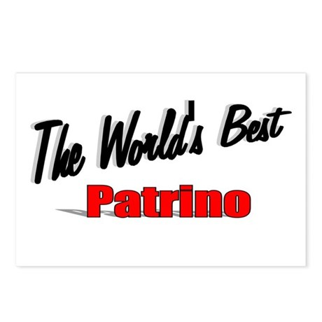 """The World's Best Patrino"" Postcards (Package of 8"