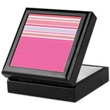 RetroPinkAbstract Keepsake Box