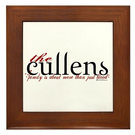 The Cullens Framed Tile