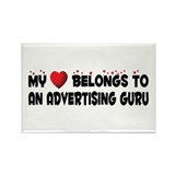 Belongs To An Advertising Guru Rectangle Magnet (1
