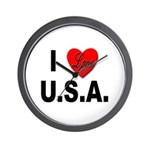 I Love U.S.A. Wall Clock