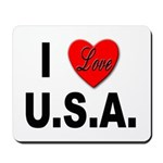 I Love U.S.A. Mousepad