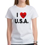 I Love U.S.A. (Front) Women's T-Shirt