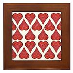 Strawberry Hearts Framed Tile
