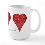 Strawberry Hearts Large Mug