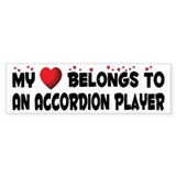 Belongs To An Accordion Player Bumper Car Sticker