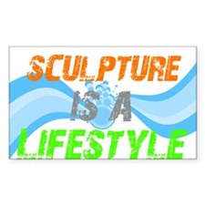 Sculpture is a lifestyle Rectangle Decal