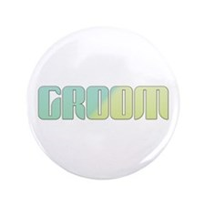 "Coastal Stripe Groom 3.5"" Button (100 pack)"