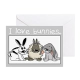 Cute bunnies Greeting Cards (Pk of 10)