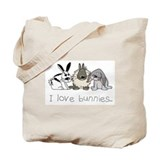 Cute bunnies Tote Bag