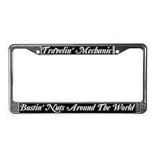 Travelin' Mechanic License Plate Frame