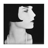 Cute Louise brooks Tile Coaster