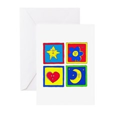 Shapes Greeting Cards (Pk of 10)
