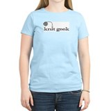 Knit geek Women's Pink T-Shirt