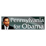 Pennsylvania for Obama bumper sticker