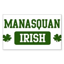 Manasquan Irish Rectangle Decal