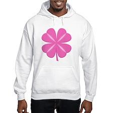4 Leaf Pink Clover Hoodie