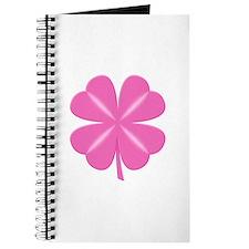4 Leaf Pink Clover Journal