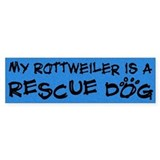 Rescue Dog Rottweiler Bumper Car Sticker