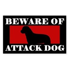 Beware of Attack Dog Rottweiler Decal