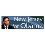 New Jersey for Barack Obama bumper sticker