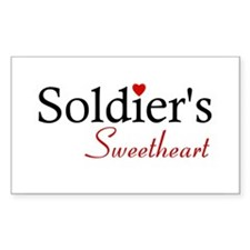 Soldier's Sweetheart Rectangle Decal
