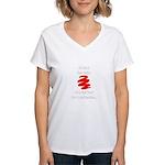 Not A Beer Belly! Women's V-Neck T-Shirt