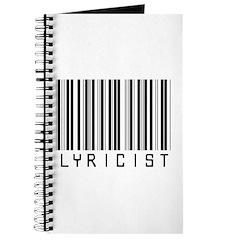 Lyricist Barcode Journal
