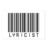 Lyricist Barcode Postcards (Package of 8)