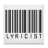 Lyricist Barcode Tile Coaster