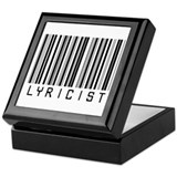 Lyricist Barcode Keepsake Box