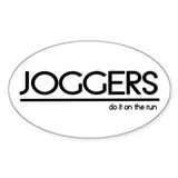 Jogger Joke Oval Decal