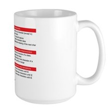 RegEx Reference Coffee Mug